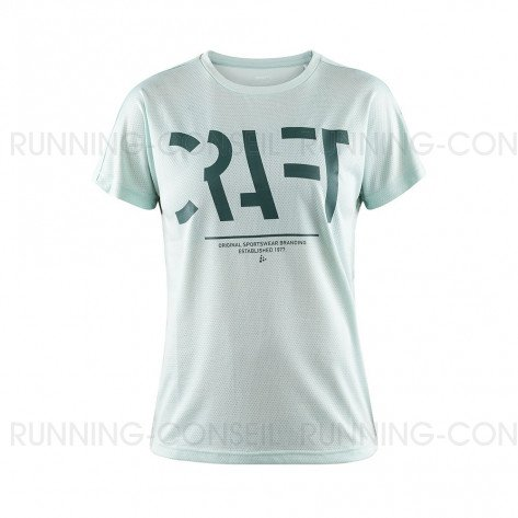 CRAFT T-SHIRT EAZE LOGO MESH FEMME | PLEXI | Collection Printemps-Été 2019