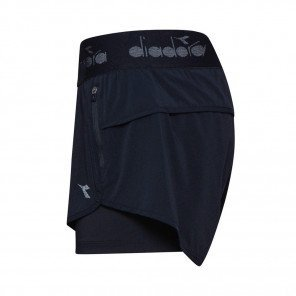 DIADORA L. DOUBLE LAYER SHORTS HOMME | NOIR