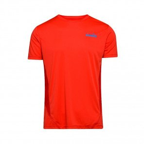 DIADORA T-SHIRT MANCHES COURTES X-RUN HOMME | FERRARI RED | Collection Printemps-Été 2019
