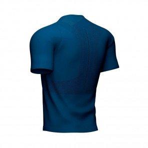 COMPRESSPORT Tee-shirt manche courte TRAIL HALF-ZIP FITTED Homme   Bleu