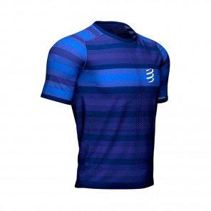 COMPRESSPORT Tee-shirt manche courte RACING Homme   Bleu