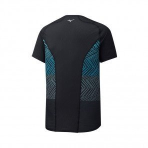 MIZUNO Tee-Shirt manches courtes AERO PREMIUM Homme   Black