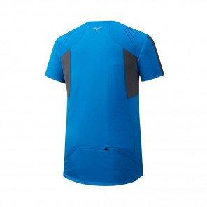 MIZUNO Tee-Shirt Trail manches courtes ENDURA TRAIL HZ Homme   Brillant Blue
