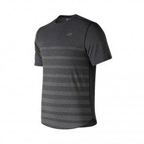 NEW BALANCE Tee-Shirt manches courtes Q SPEED JACQUARD Homme   Black Heather   Collection Printemps-Été SS2019