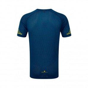 RONHILL Tee-Shirt manches courtes STRIDE Homme   Azurite/Midnight Blue/Acid
