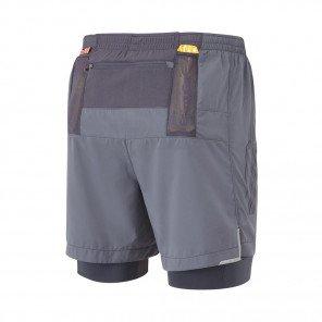 RONHILL Short TWIN MARATHON INFINITY Homme | Charcoal/Grey