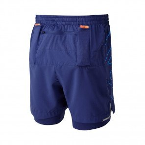 RONHILL SHORT TWIN MARATHON INFINTY Homme | MIDNIGHT BLUE/ELECTRIC BLUE